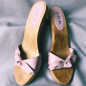 MIA blush pink clog sandals with silver studs